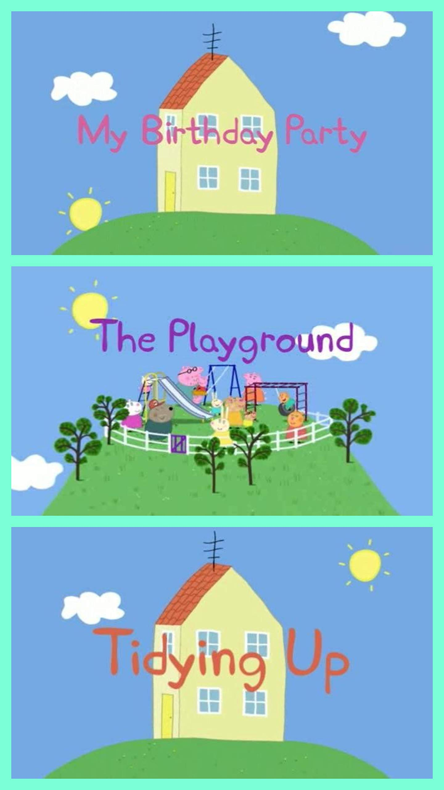 Storybook Collection: My Birthday Party, The Playground and Tidying Up - Great Picture Book For Kids