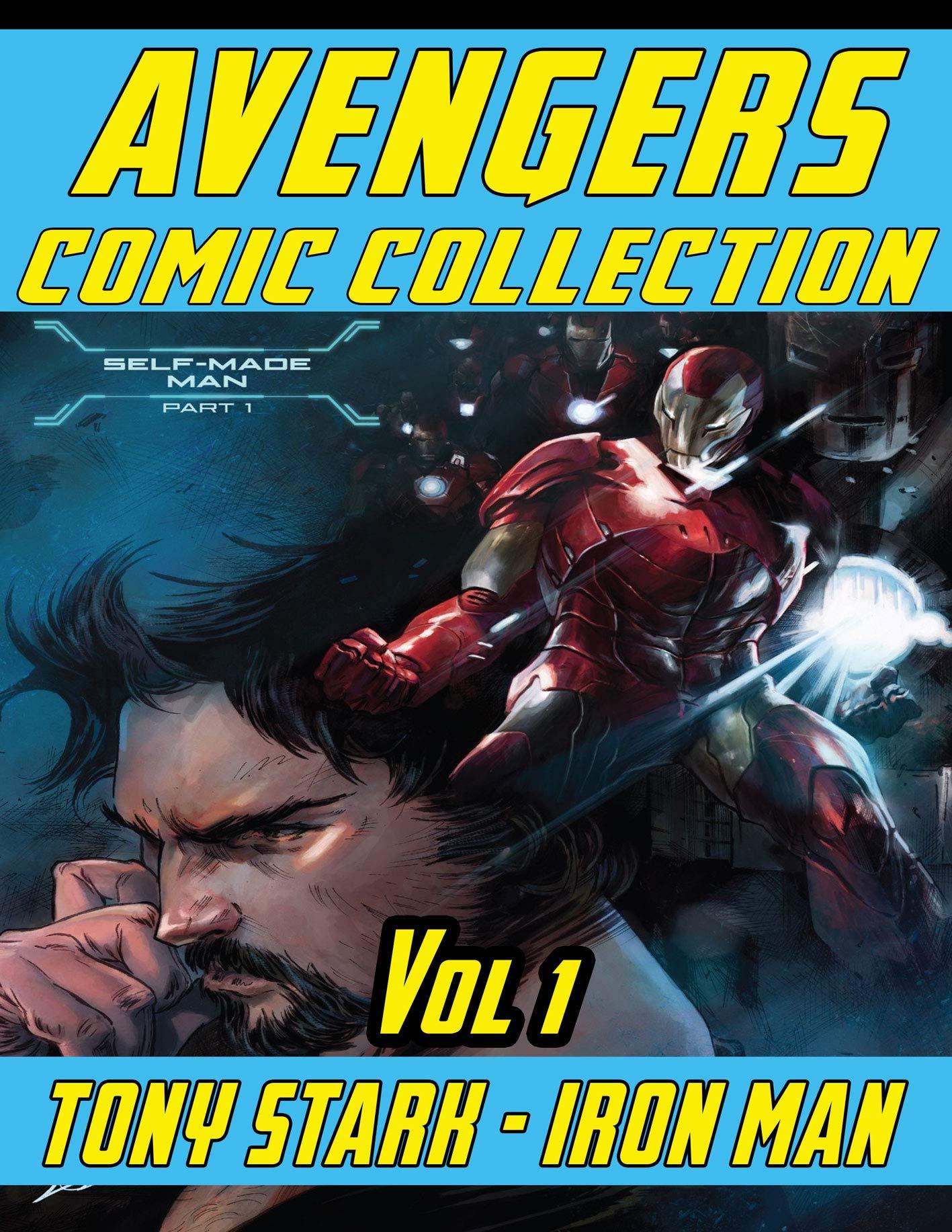 Tony Stark Iron Vol 1: Superheroes Avenger Team Comics Books For Kids, Boys , Girls , Fans , Adults