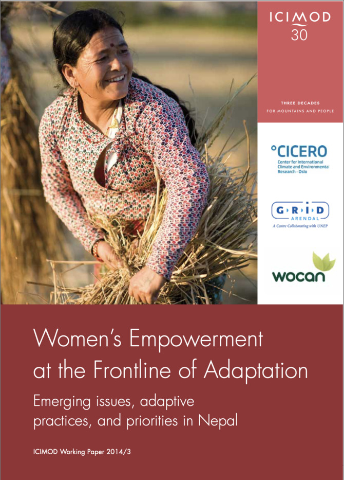 Women's Empowerment at the Frontline of Adaptation: Emerging issues, adaptive practices, and priorities in Nepal