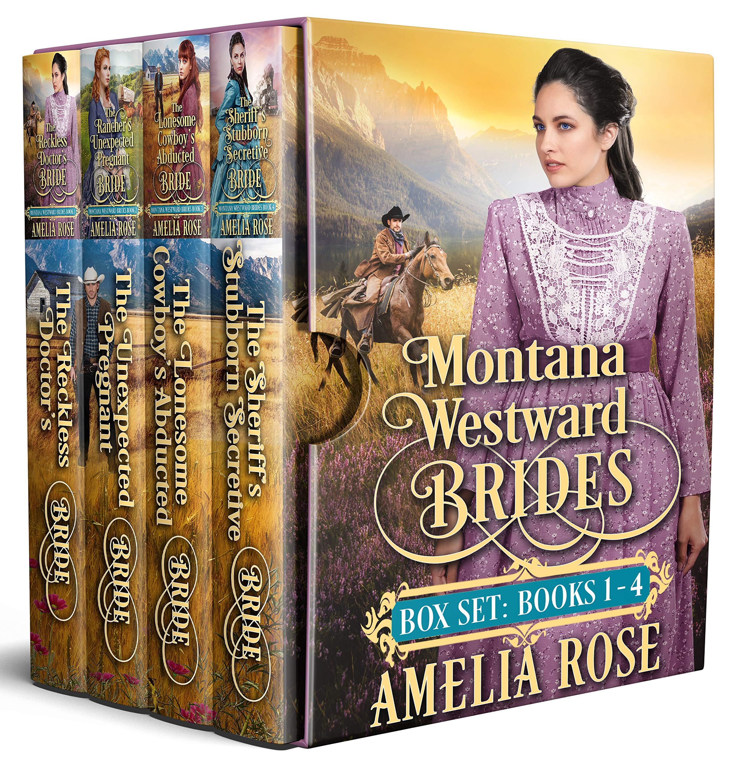 Montana Westward Brides Box Set: Books 1-4: Mail Order Bride Historical Western Romance