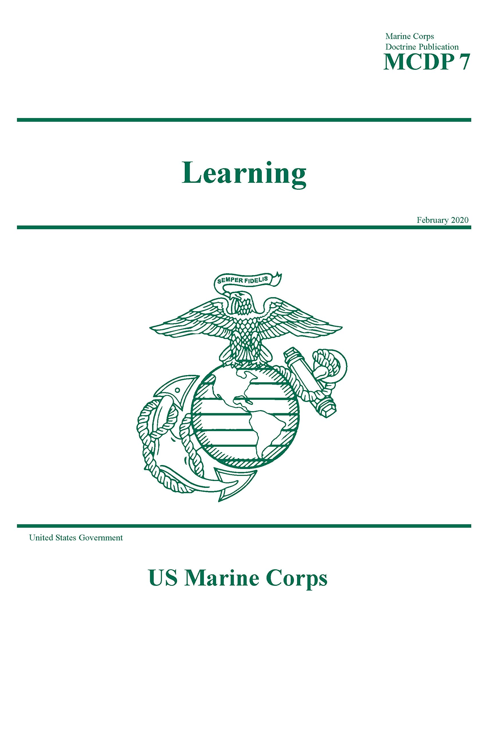 Marine Corps Doctrine Publication MCDP 7 Learning February 2020