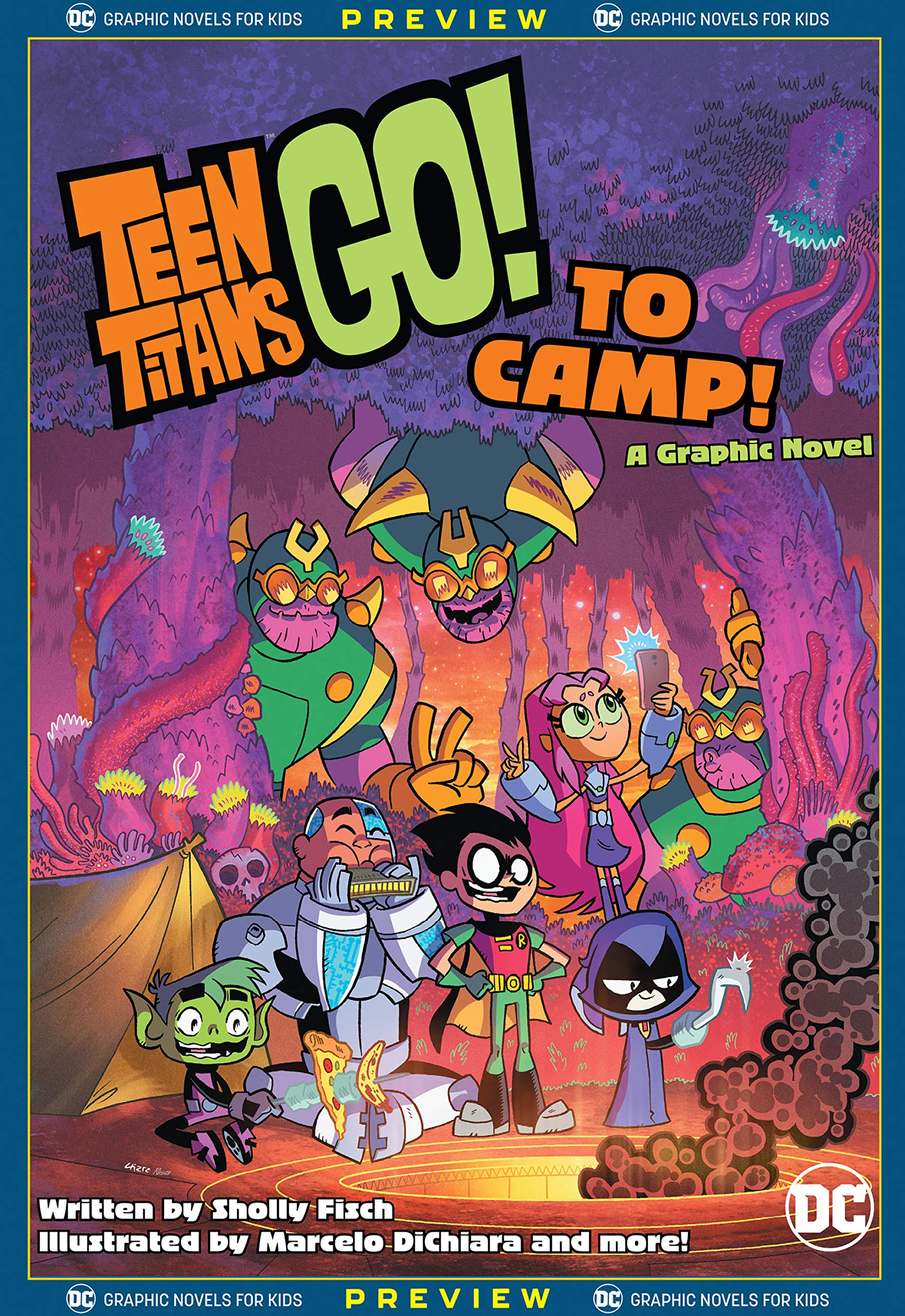 DC Graphic Novels for Kids Sneak Peeks: Teen Titans Go! to Camp #1