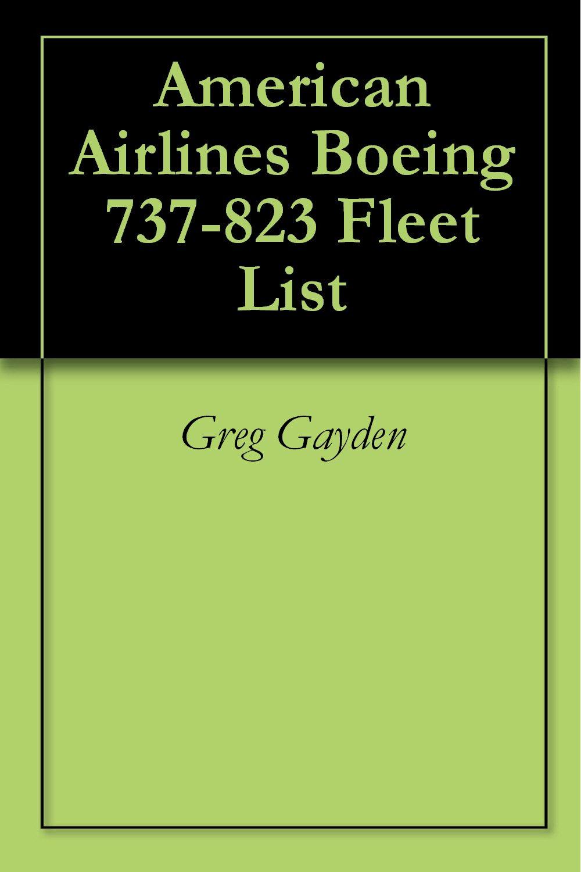 American Airlines Boeing 737-823 Fleet List