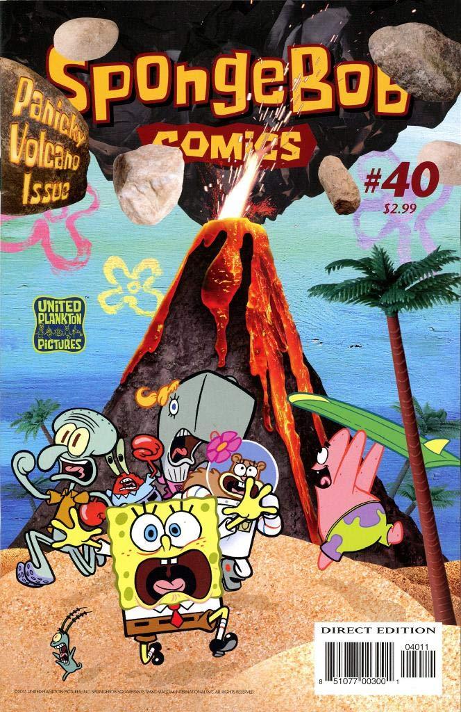 Sponge: Vol 4 Funny Adventure Cartoon SpongeBob Comics Graphic Novels SquarePants Books For Kids, Boys , Girls , Fans , Adults