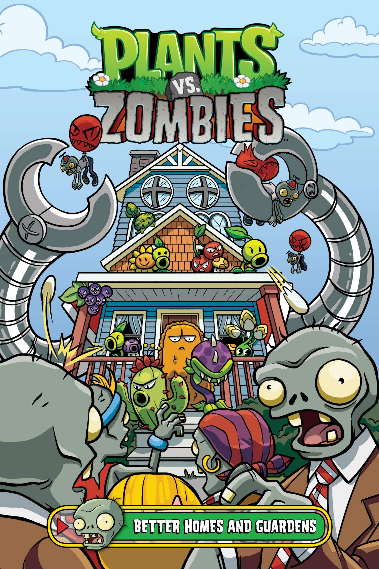 Plants: vs Zombies - Vol 15 Great Cartoon Game Comic Graphic Novels For Young & Teens , Adults Reader