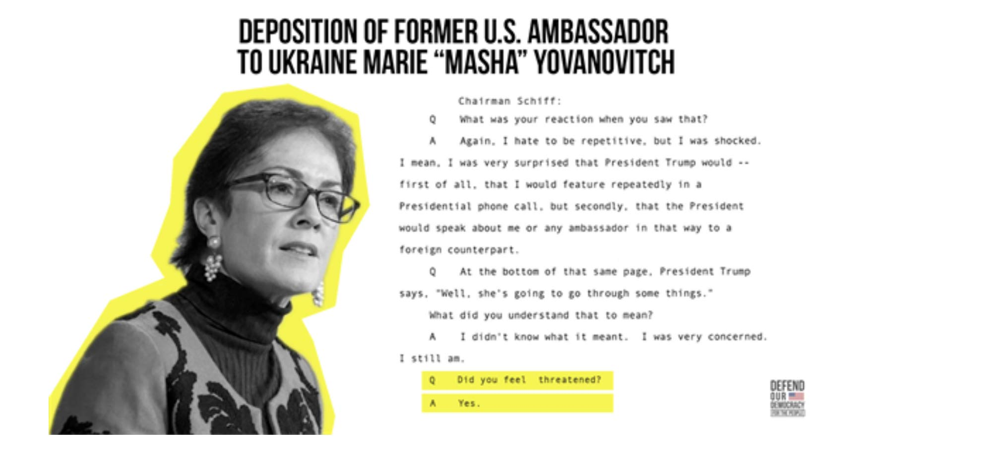 THE TRUMP-UKRAINE IMPEACHMENT INQUIRY: Full Testimonies of Yovanovitch, McKinley, Sondland, Volker, Taylor & Kent