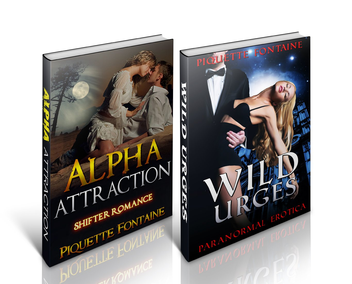EROTIC ROMANCE BOX SETS #2: Alpha Attraction and Wild Urges (Paranormal Erotica Shifter MMF Threesome Short Stories Box Set)