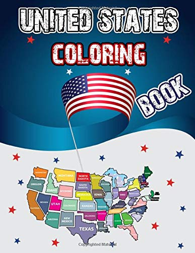 United States Coloring Book: Dover History Coloring Book, Educational Geography Workbook, 50 States Activity Book, USA Coloring Book