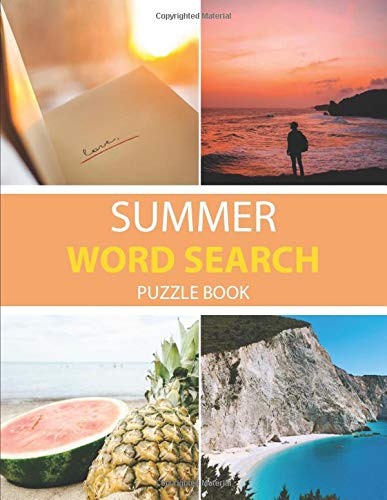 Summer word search puzzle book: 60 Large Print Challenging Puzzles Summer | Gift for Summer, Vacations & Free Times