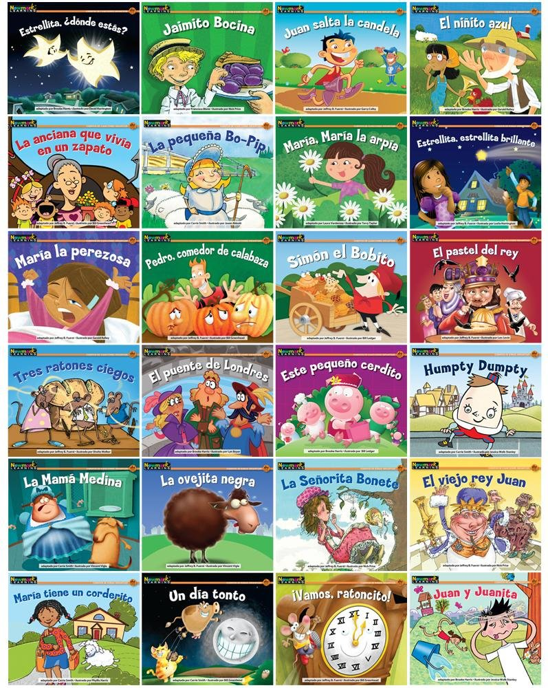 Rising Readers Fiction Single-Copy Set: Nursery Rhyme Tales Sets 1 and 2 (1 copy of 24 titles) SPANISH