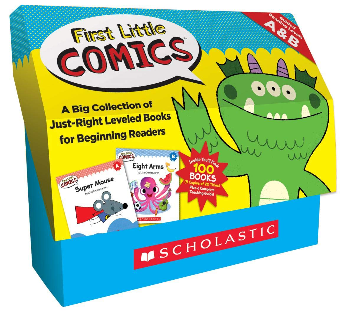 First Little Comics: Guided Reading Levels A B (Classroom Set): A Big Collection of Just-Right Leveled Books for Beginning Readers