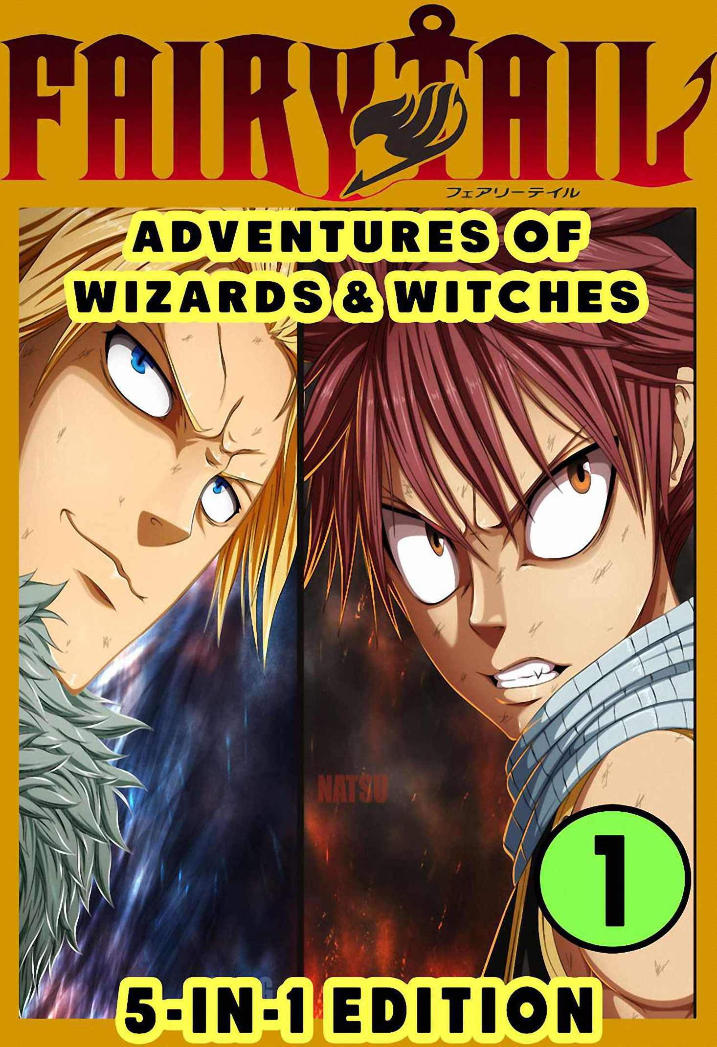 Tail Wizards: Book 1 5-in-1 Edition Fantasy Tail Manga Fairy Action Graphic Novel For Teen