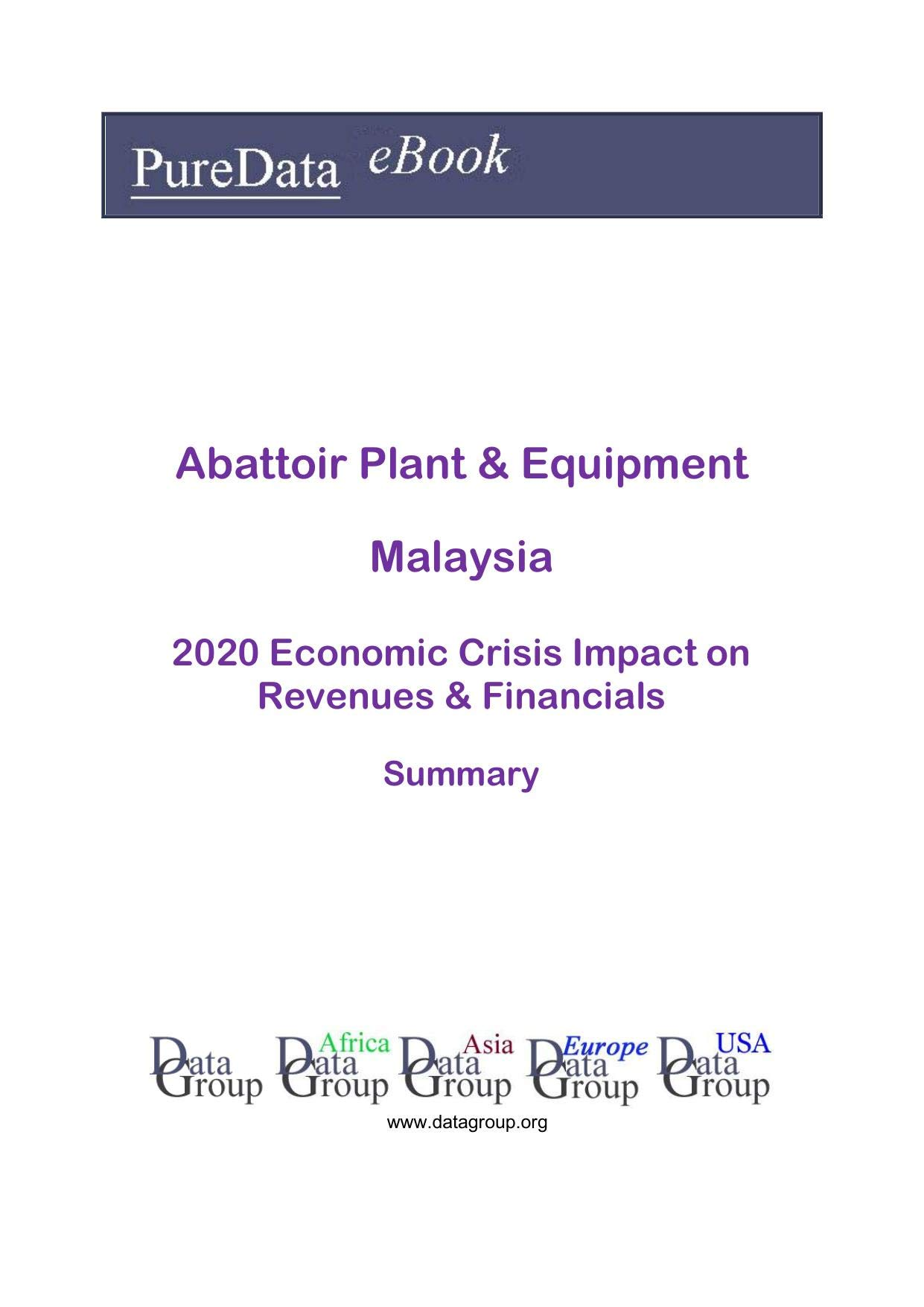 Abattoir Plant & Equipment Malaysia Summary: 2020 Economic Crisis Impact on Revenues & Financials