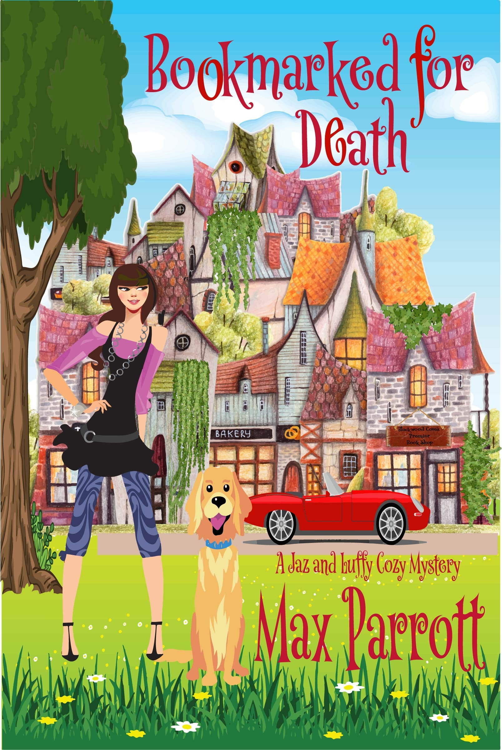 Bookmarked for Death: Psychic Sleuths and Talking Dogs (A Jaz and Luffy Cozy Mystery Book 3)