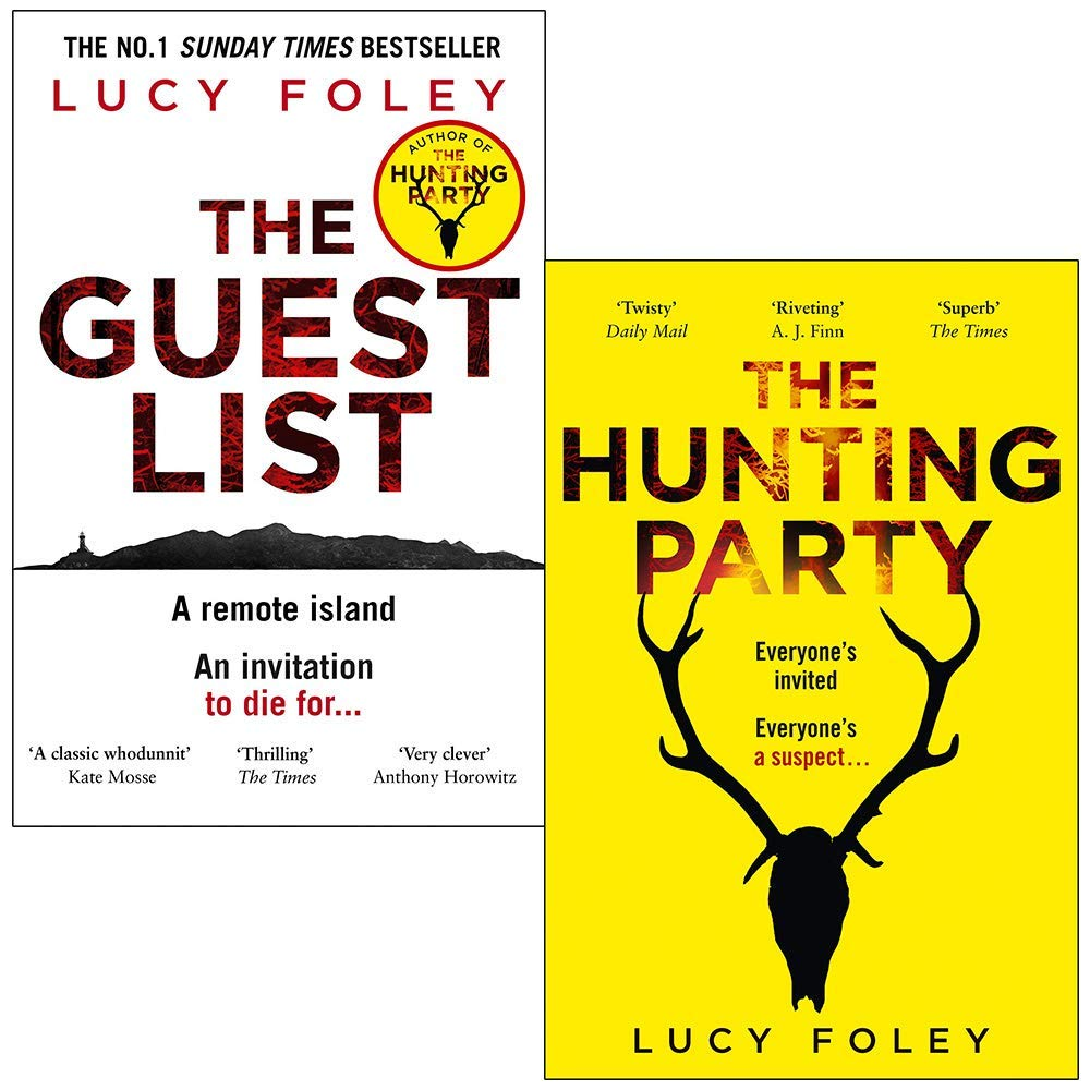 The Guest List & The Hunting Party By Lucy Foley 2 Books Collection Set