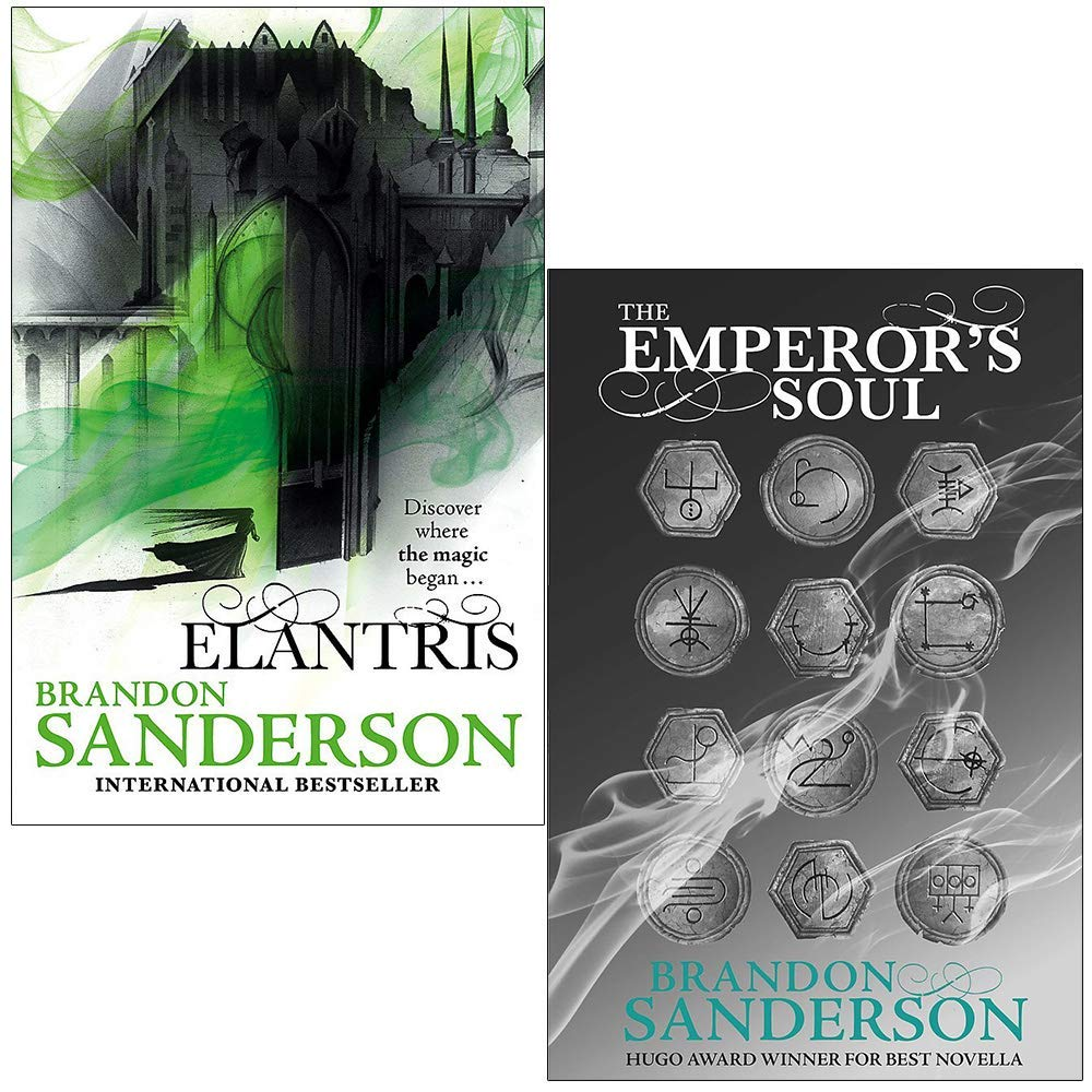 Elantris Series Collection 2 Books Set By Brandon Sanderson (Elantris: 10th Anniversary Edition, [Hardcover] The Emperor's Soul)