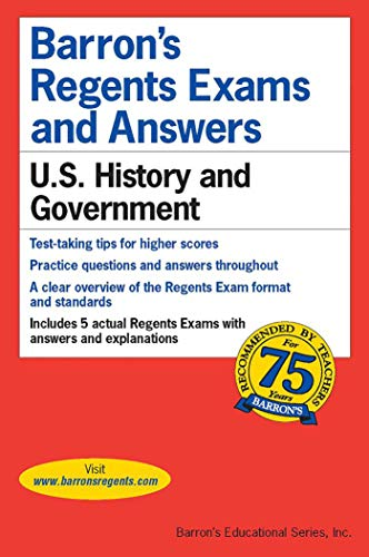 Regents Exams and Answers: U.S. History and Government (Barron's Regents NY) by Eugene V. Resnick M.A., Barrons Educational Series