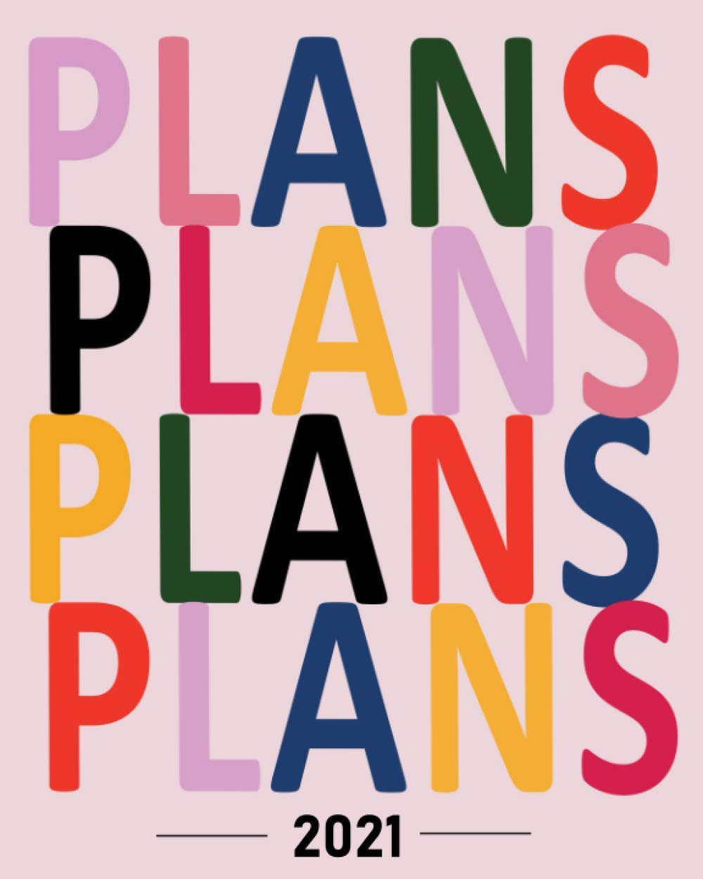 """Plan 2021 Planner - Daily, Weekly & Monthly Planner, Premium Matte Light Pink Cover Design 8"""" x 10"""" with To-Do List, Undated Planner, Increase ... Organizer, Gratitude Journal - Start Anytime"""