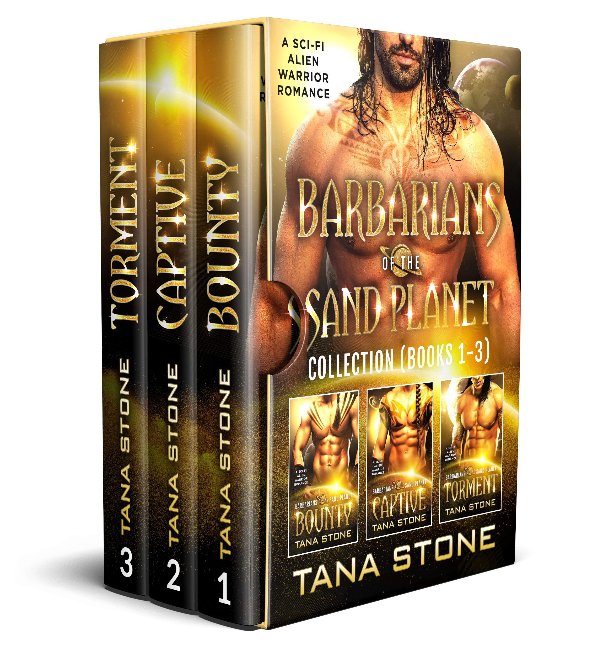 Barbarians of the Sand Planet Collection Books 1-3: A Sci-Fi Alien Warrior Romance