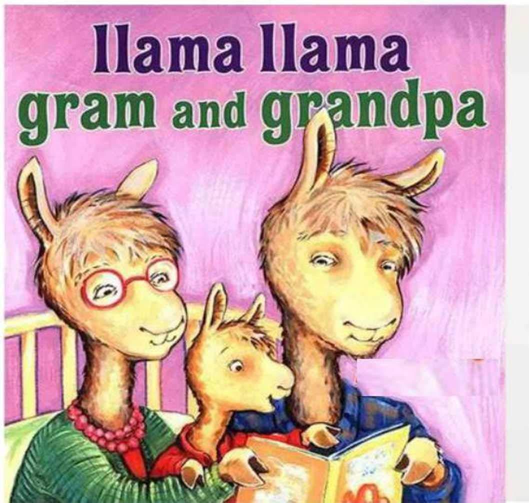 Llama Gram and Grandpa: children's books baby