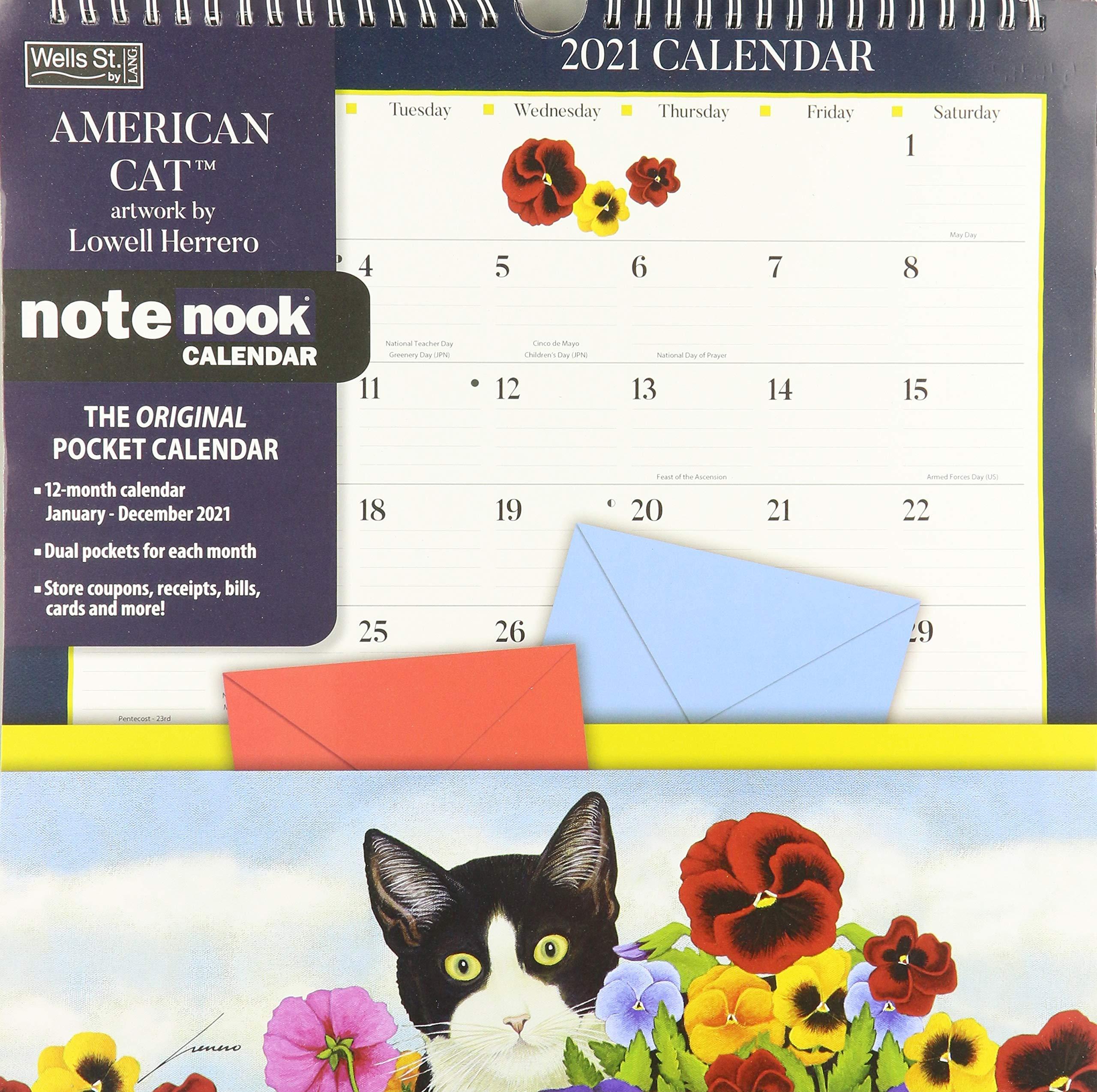 American Cat 2021 Note Nook Calendar