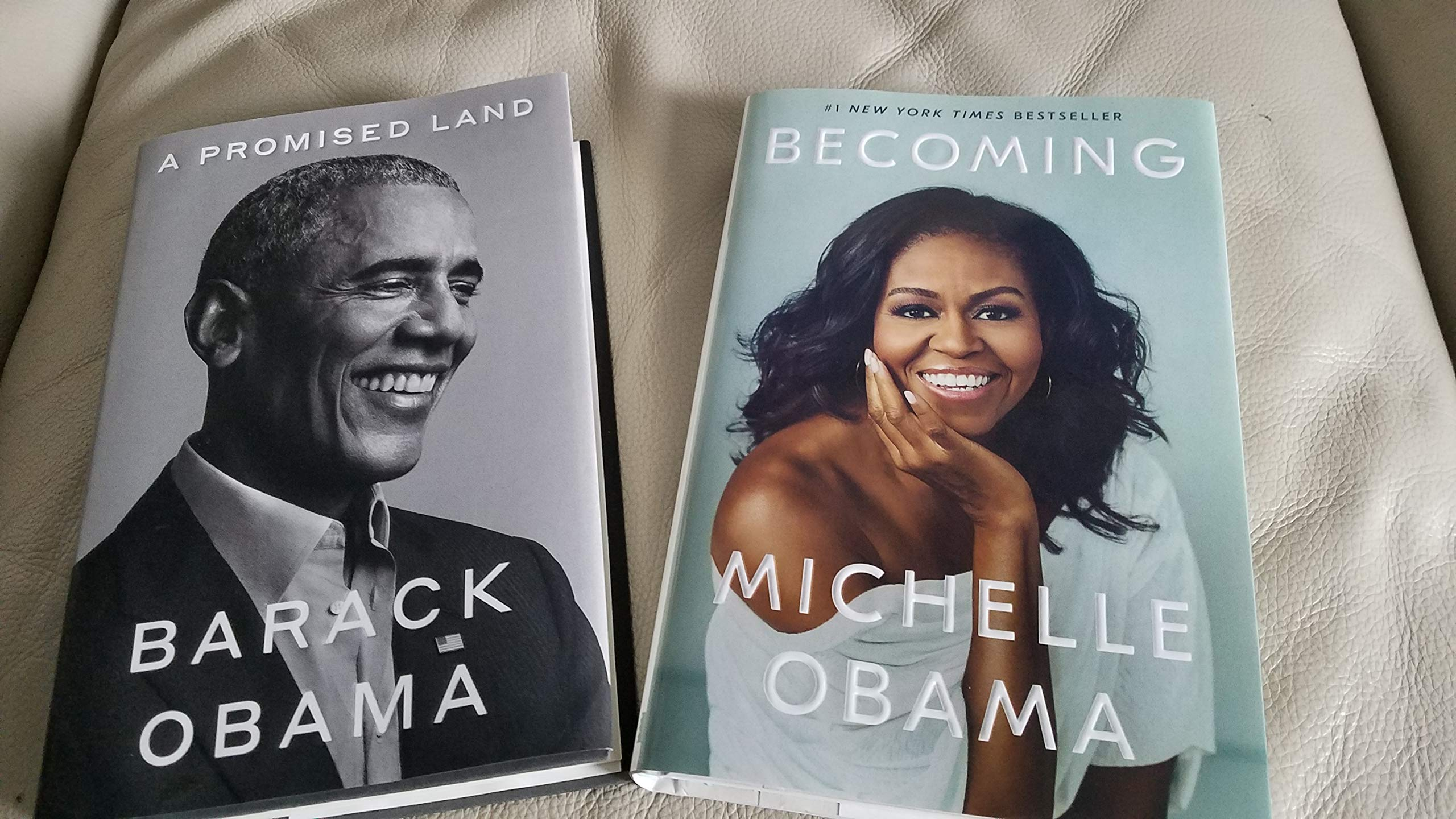 BARACK & MICHELLE OBAMA 2 BOOK SET - - A PROMISED LAND & BECOMING