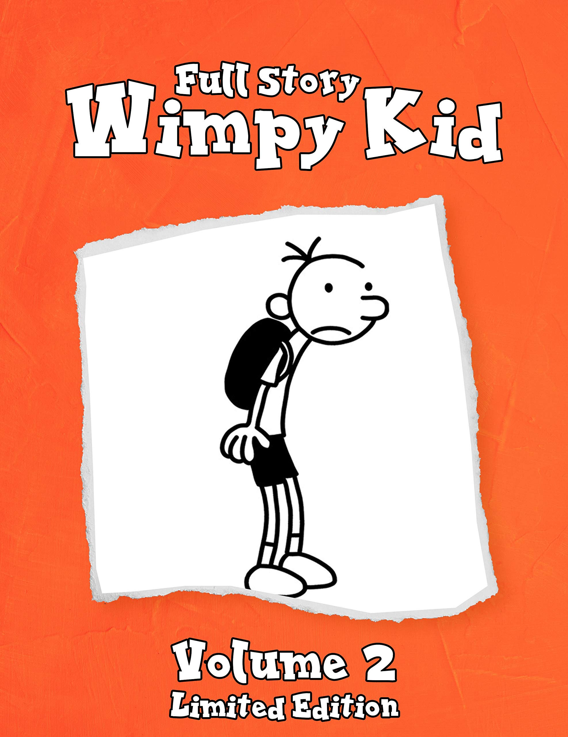 Full Story Wimpy Kid Funny Childrens Books Vol 2: Wimpy Kid Limited Edition - Diary Rodrick rules