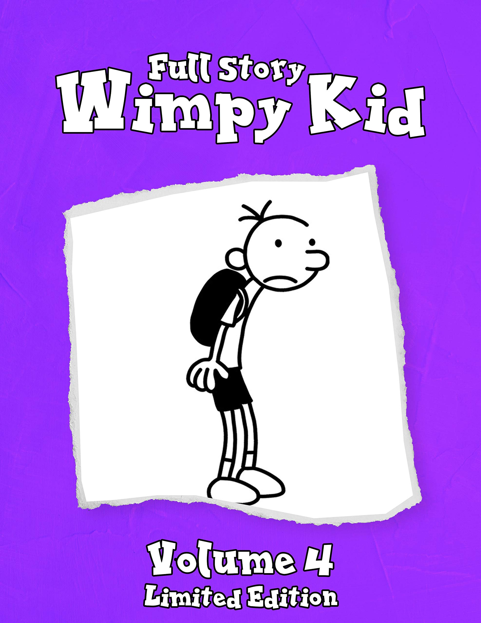 Full Story Wimpy Kid Funny Childrens Books Vol 4: Wimpy Kid Limited Edition - Diary Dog days