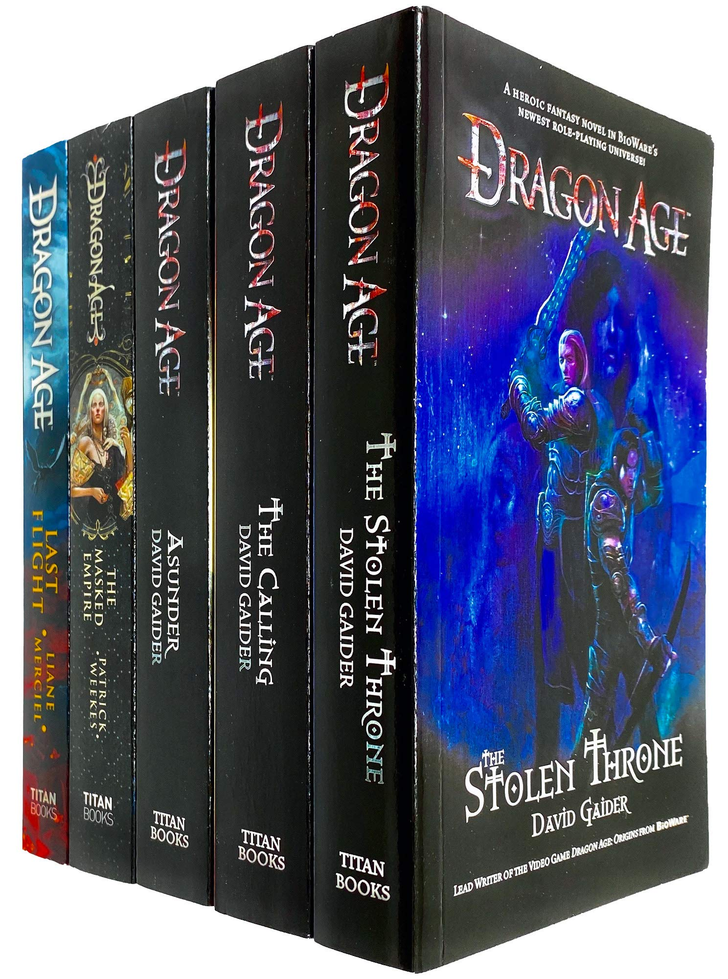 Dragon Age 5 Books Series Collection Set by David Gaider