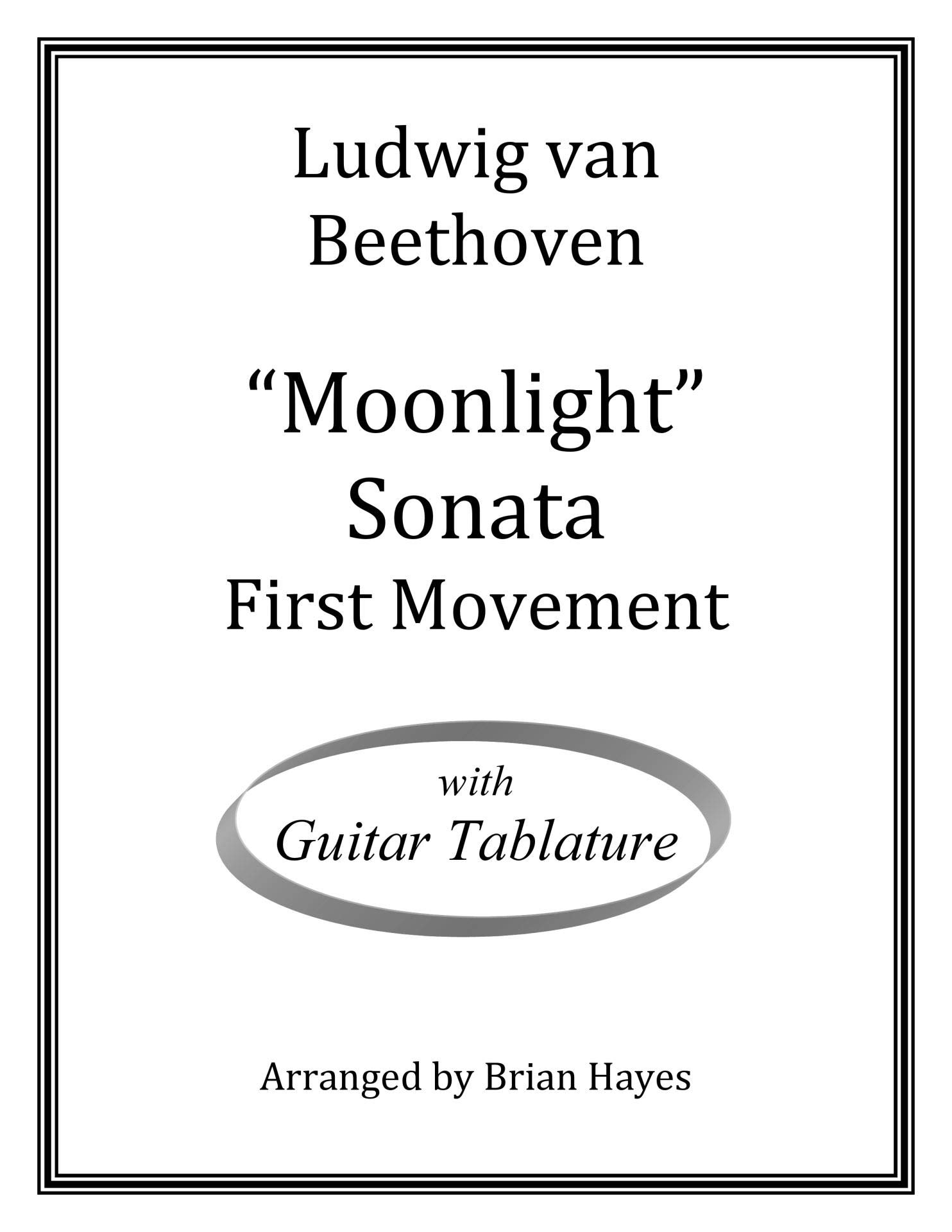 Beethoven's Moonlight Sonata (for solo guitar): with Tablature