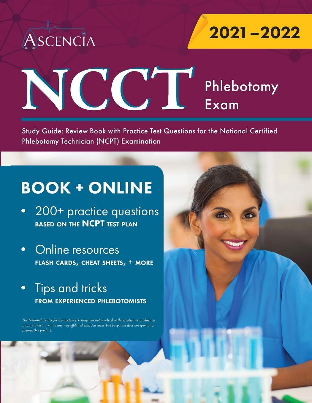 NCCT Phlebotomy Exam Study Guide: Review Book with Practice Test Questions for the National Certified Phlebotomy Technician (NCPT) Examination