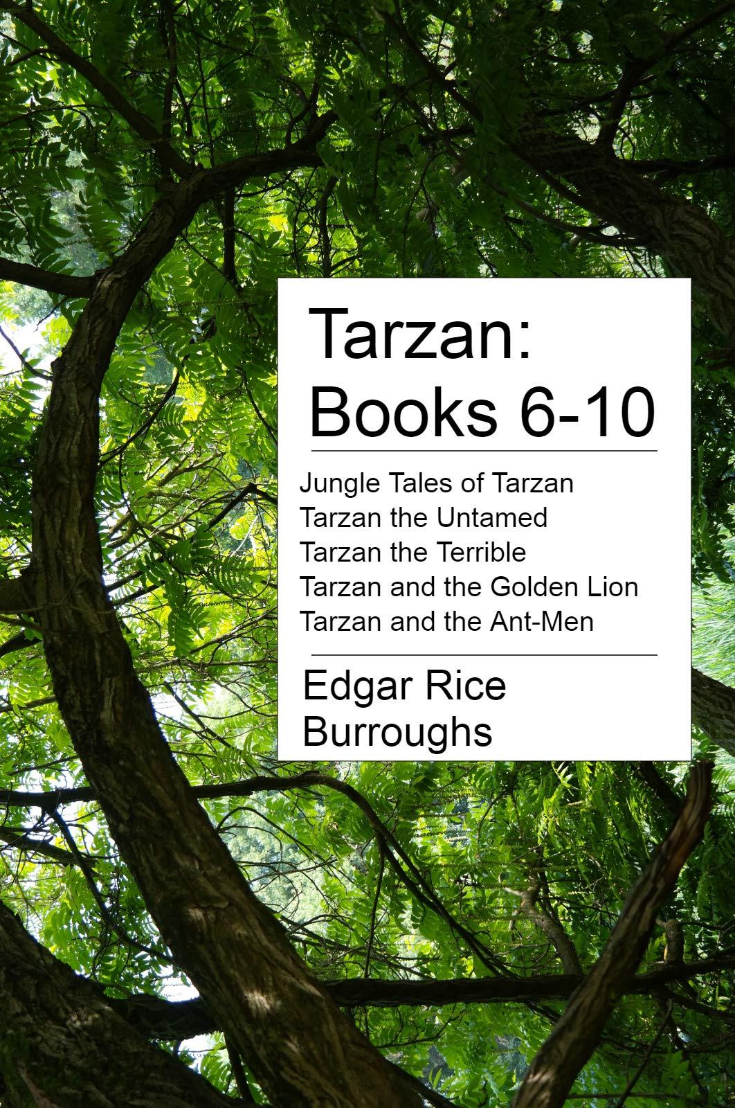 Tarzan: Books 6-10: Jungle Tales of Tarzan, Tarzan the Untamed, Tarzan the Terrible, Tarzan and the Golden Lion, and Tarzan and the Ant-Men