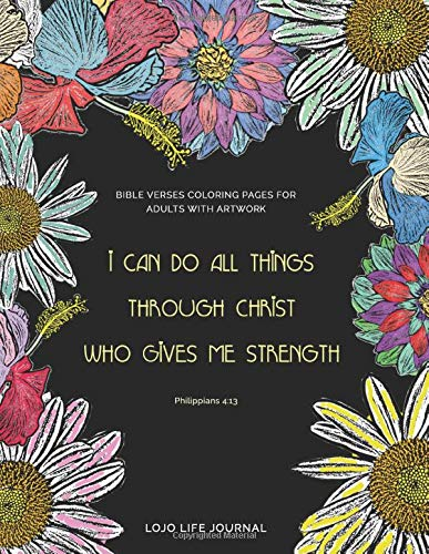 Beautiful Bible Verses Coloring Pages For Adults with Artwork: Bible Coloring Sheets With Verses - Christian Book On Depression and Anger (Self Help)