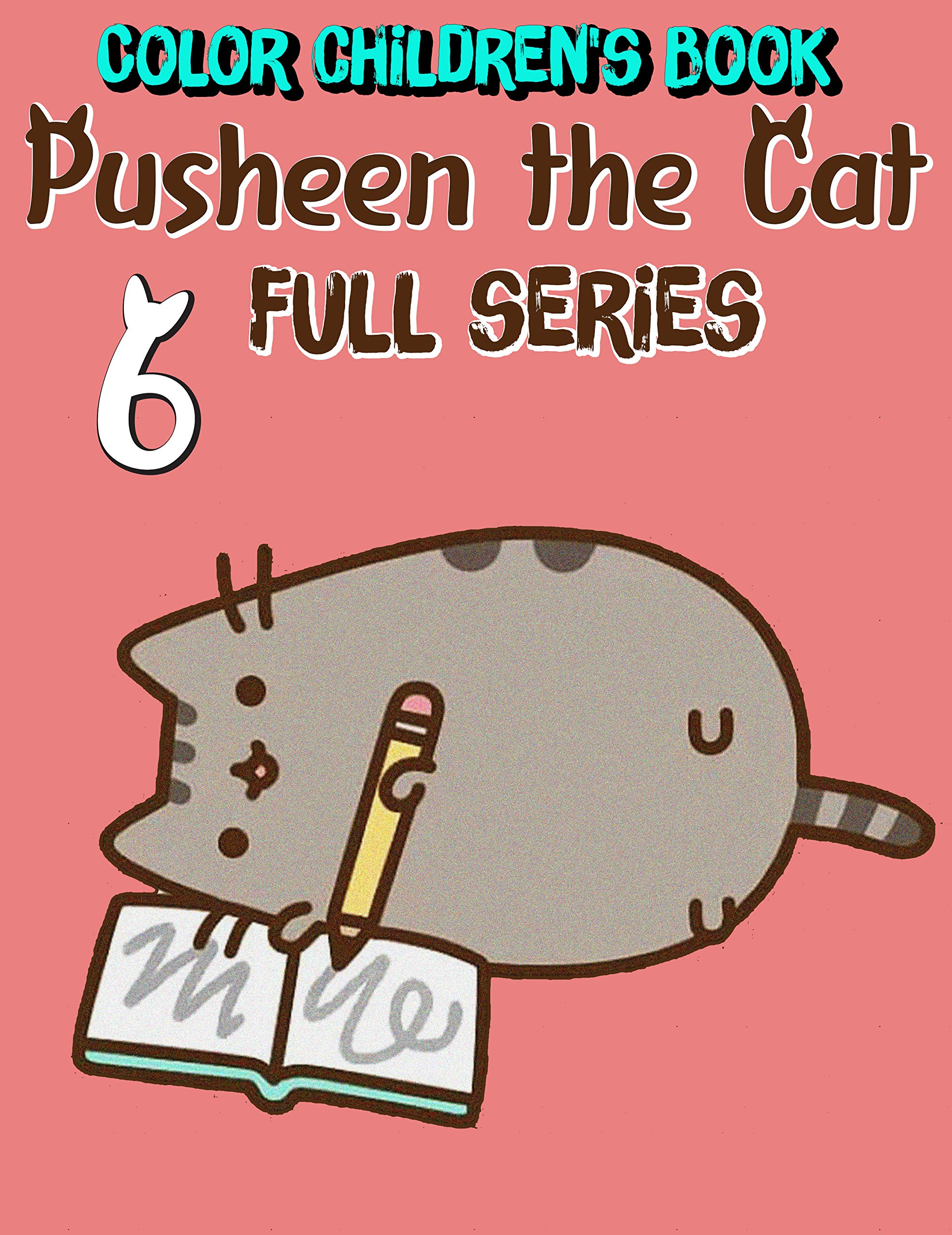 Color children's book Pusheen the Cat Full series: Funny Pusheen the Cat Limited Edition Volume 6