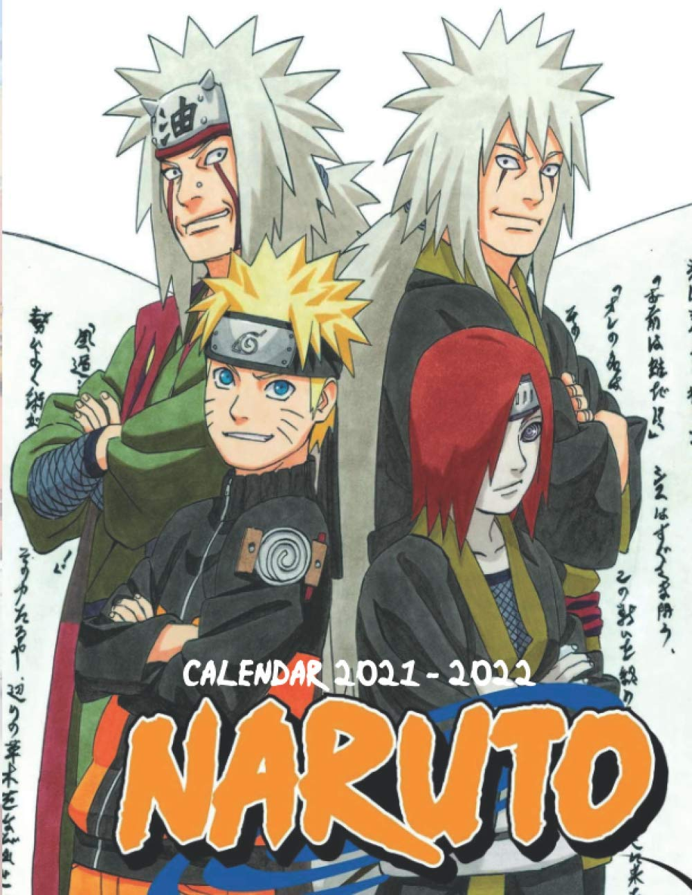 Naruto Calendar 2021-2022: Anime 18-month Calendar 2021-2022 with 8.5x11 inches size - Exclusive Illustrations!