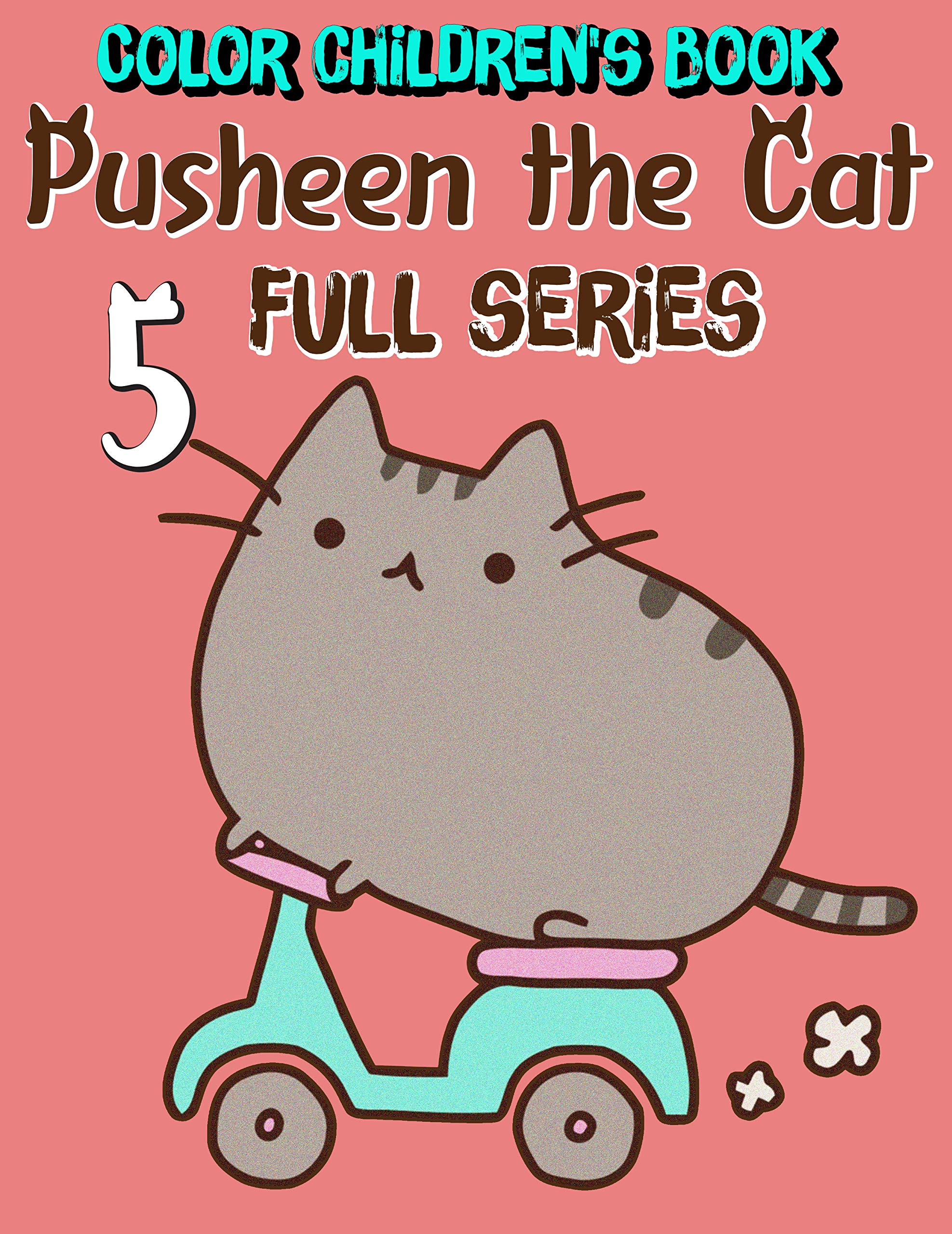 Color children's book Pusheen the Cat Full series: Funny Pusheen the Cat Limited Edition Volume 5