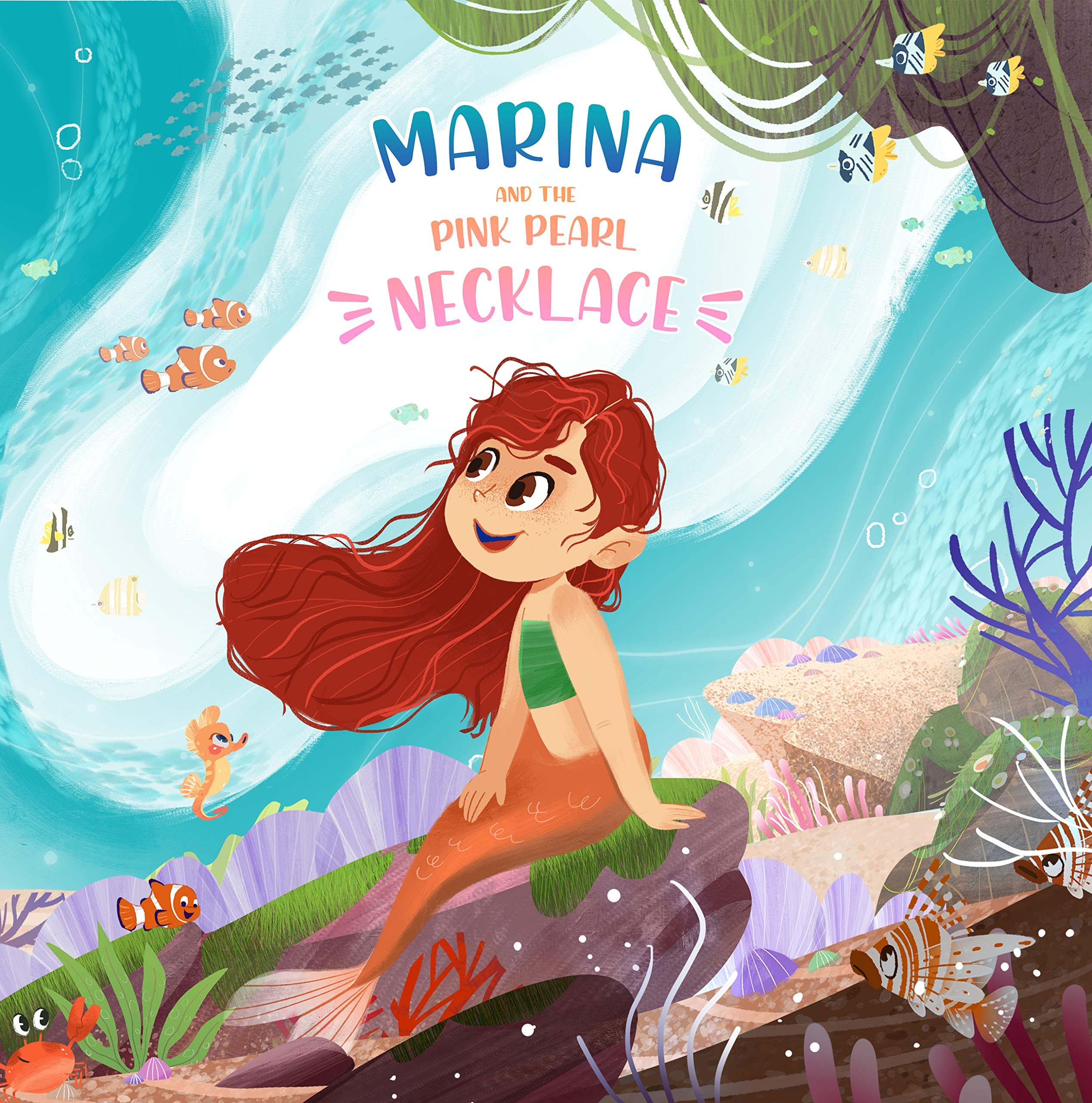 Marina & The pink pearl necklace: Mermaid Tales, Fantasy, Grow up, Friendship books for girls