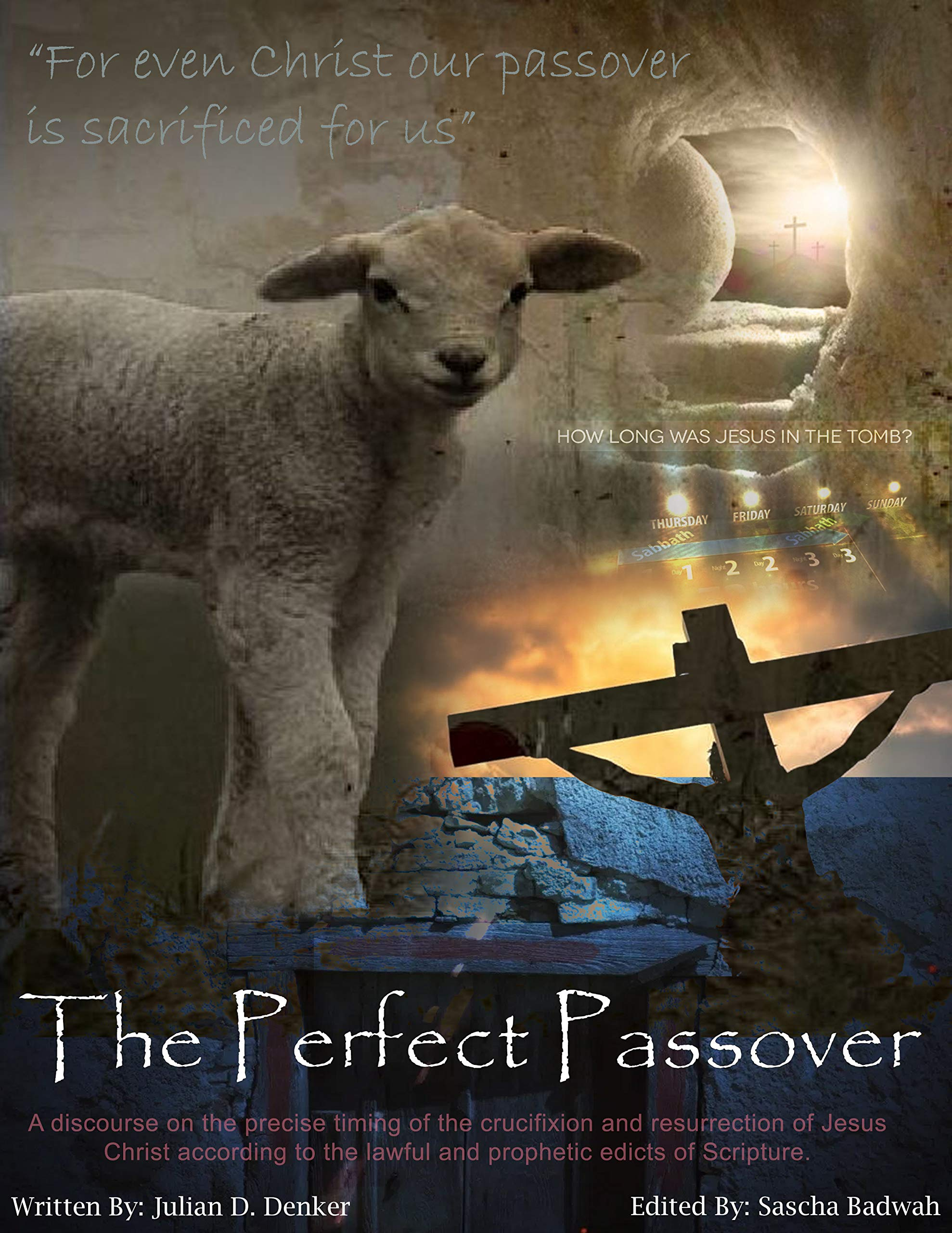 The Perfect Passover: A discourse on the precise timing of the crucifixion and resurrection of Jesus Christ according to the lawful and prophetic edicts of Scripture.
