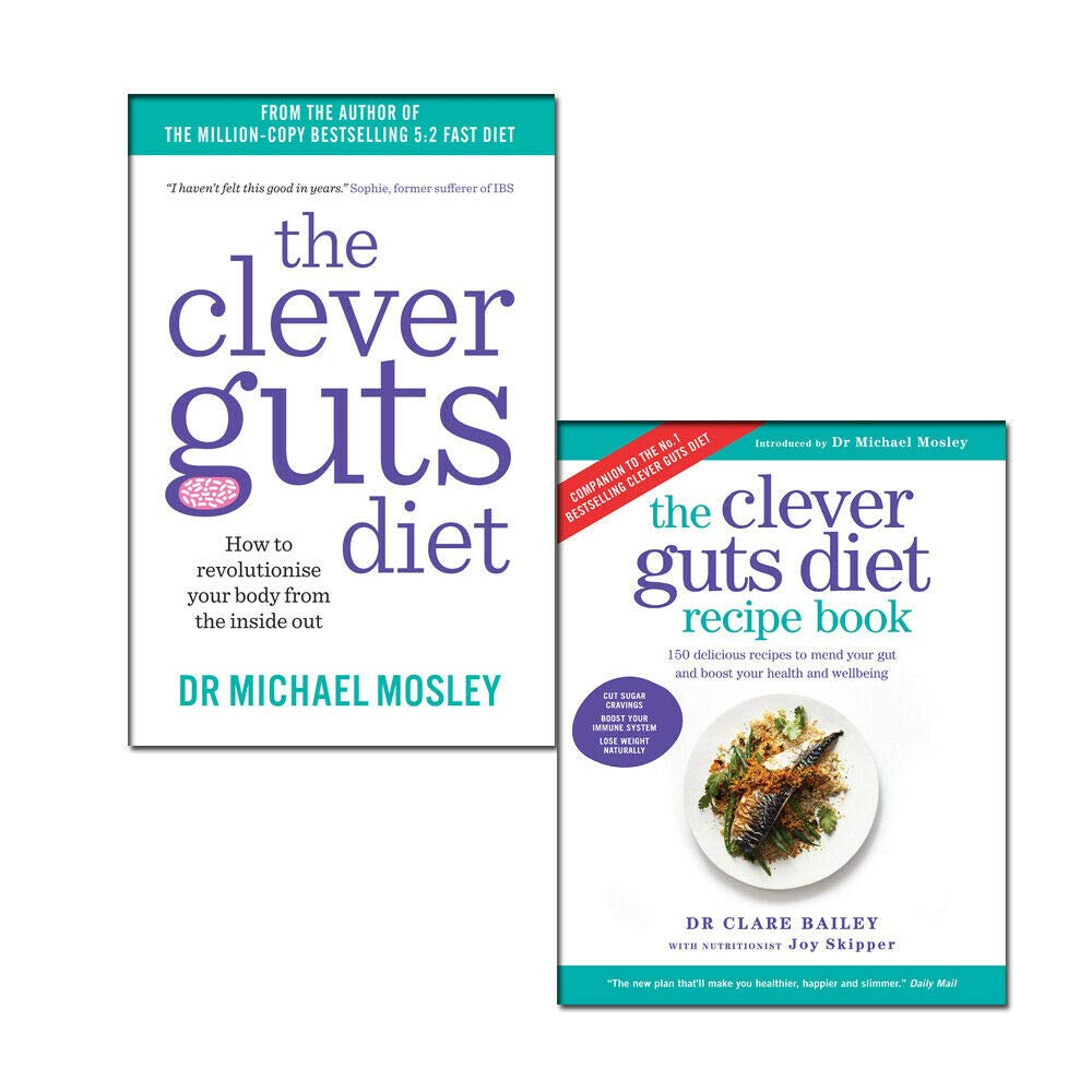 Clever Guts Diet Recipe 2 Books Collection Set By Michael Mosley & Clare Bailey