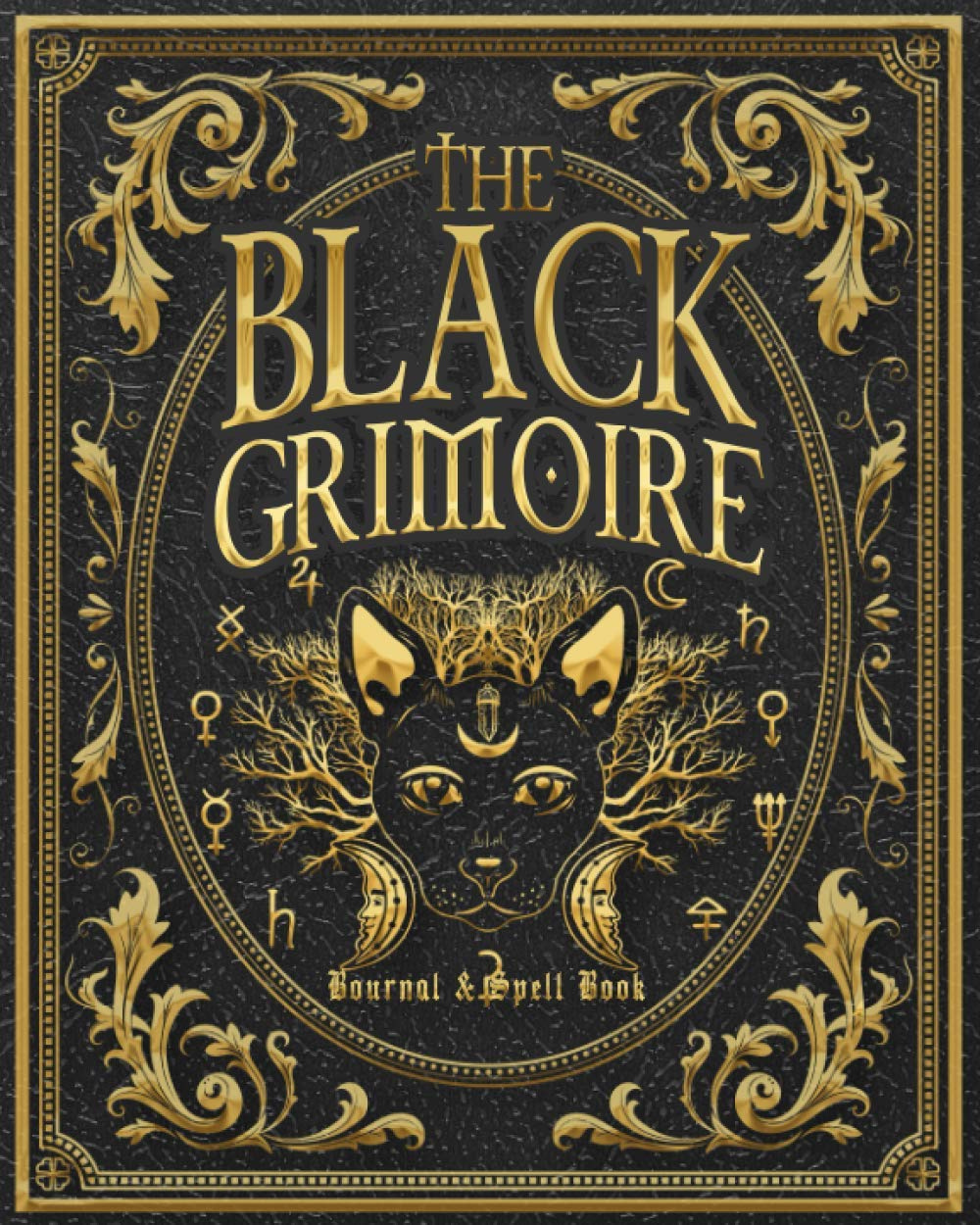 The Black Grimoire: Black Cat Magic Witch Journal and Spell Book