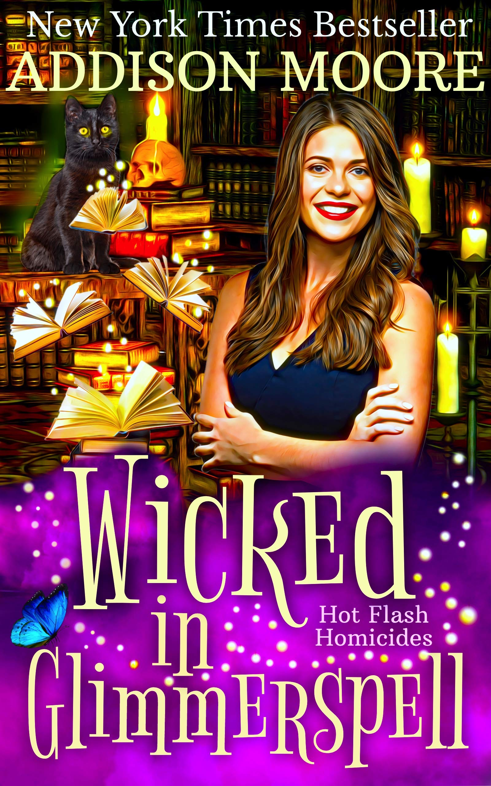 Wicked in Glimmerspell: A Paranormal Women's Fiction Novel (Hot Flash Homicides Book 2)