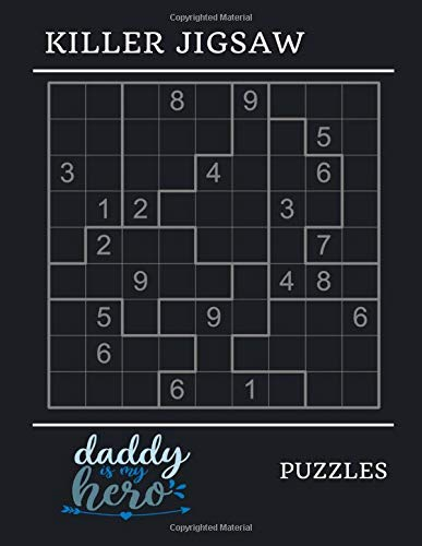 Killer jigsaw puzzles: Puzzles 3x3 block contain all of the digits 1 thru 9 killer jigsaw sudoku book, fun brain training games challenging and testing your abilities, easy puzzle books for smart kids ages 4-8, 9-12, 13-14 ( Volume 8 )
