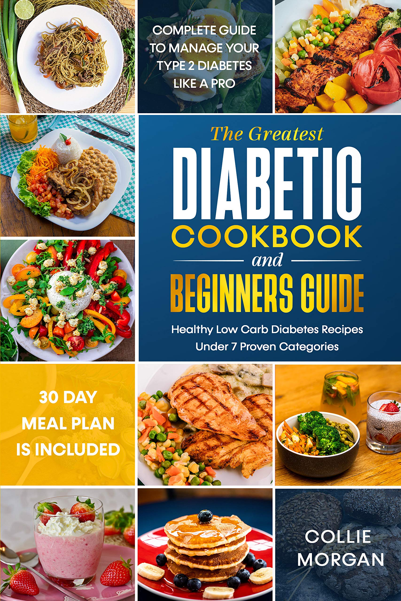 The Greatest Diabetic Cookbook and Beginners Guide: Complete Guide to Manage your Type 2 Diabetes like a Pro, Healthy Low Carb Diabetes Recipes under 7 Categories