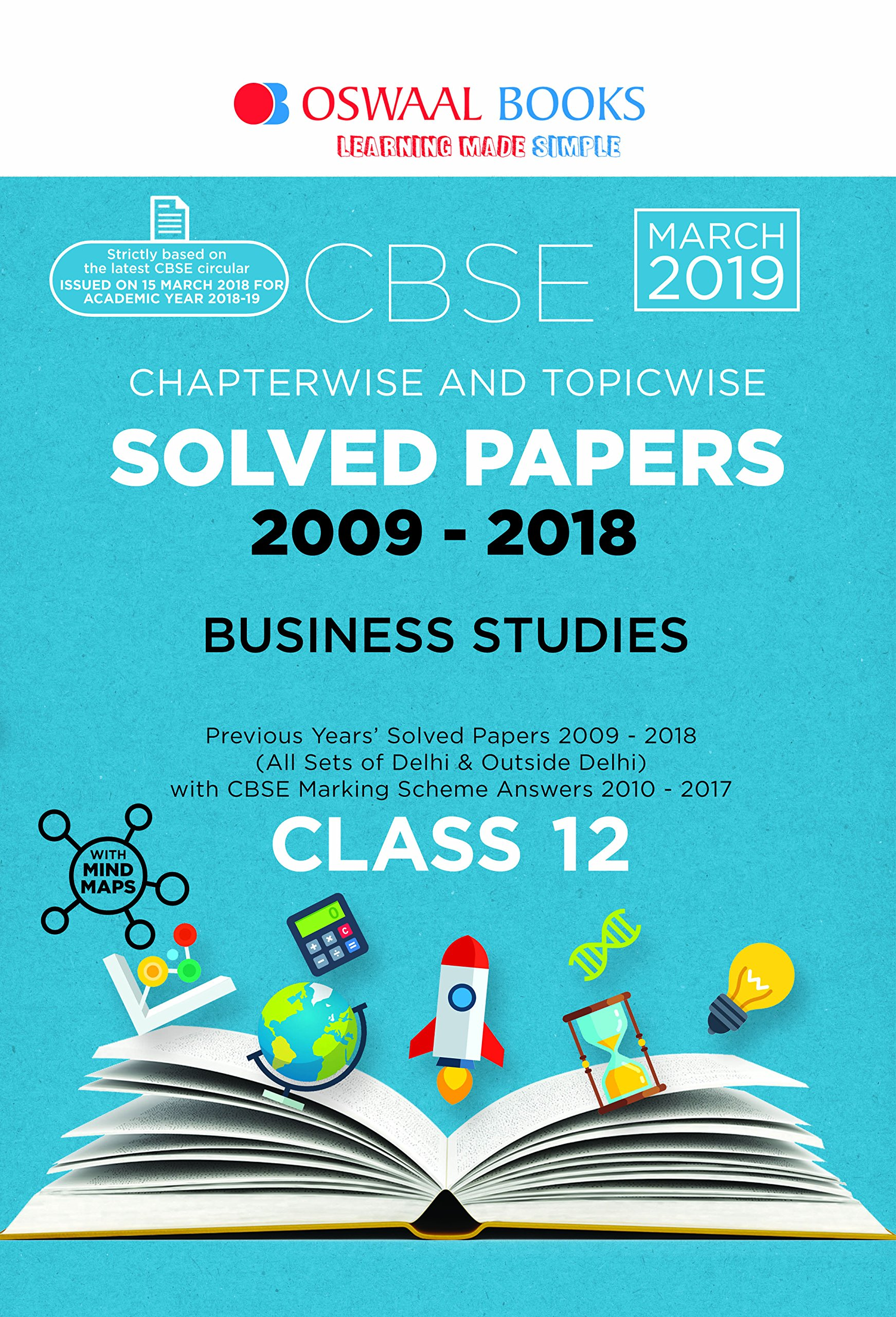 Oswaal CBSE Solved Papers Class 12 Business Studies Chapterwise & Topicwise (For March 2019 Exam)