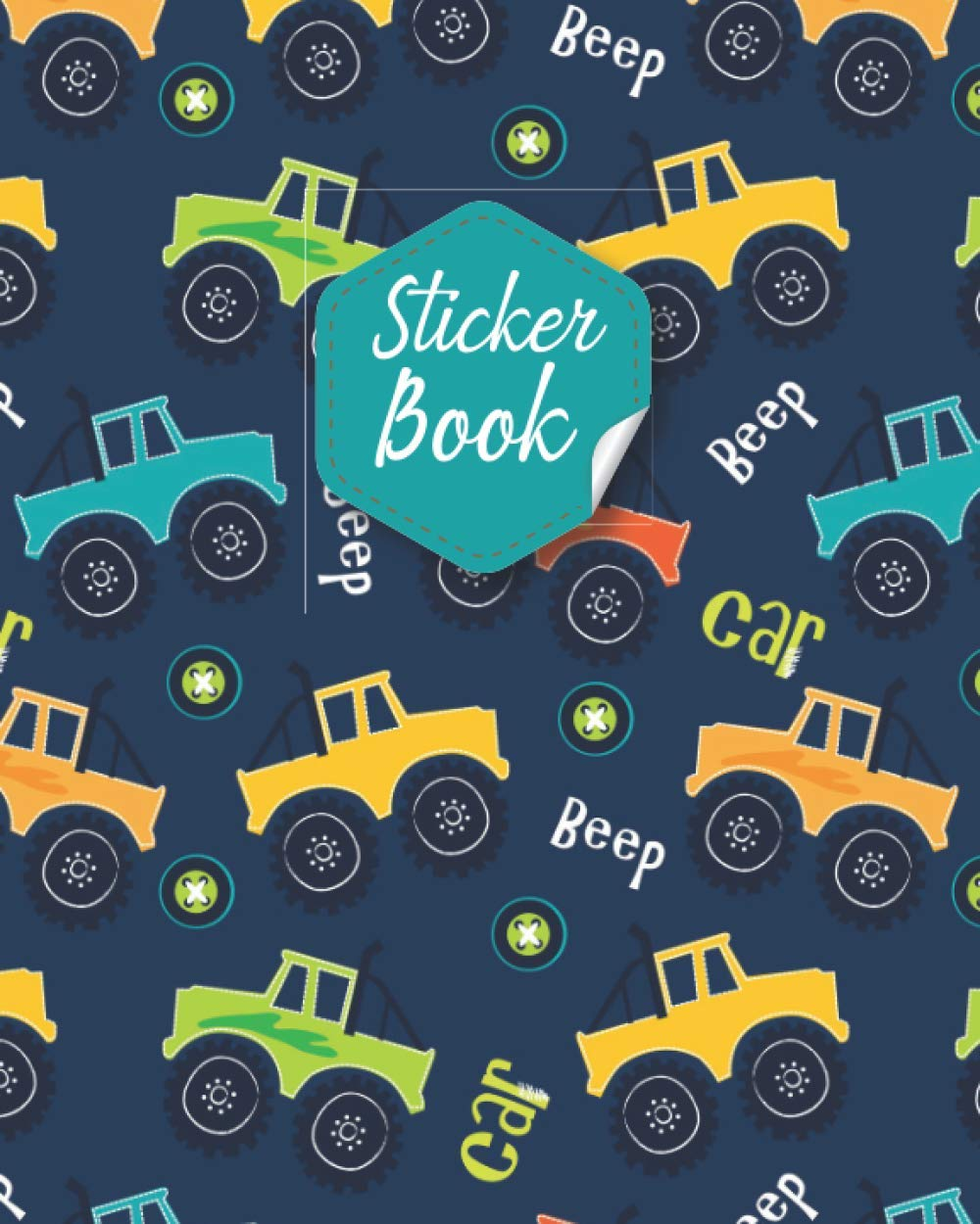 Sticker Book: Kids Sticker Collection Book & Blank Sticker Album also Blank Sticker Collecting Album for Kids, Children, Boys & Girls Sticker ... on their Own Sticker Books for Kids 100 pages