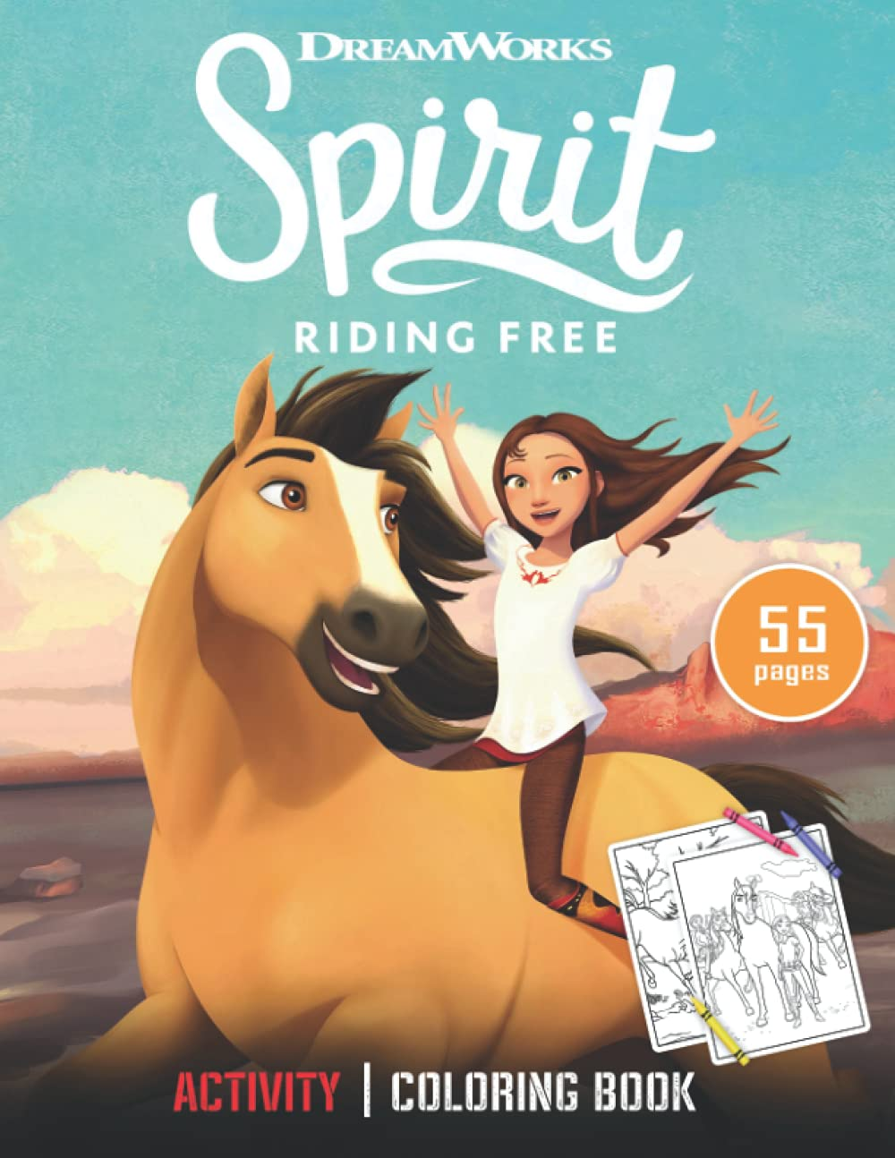 Spirit Riding Free Coloring Book: and Activity Book (US Edition).
