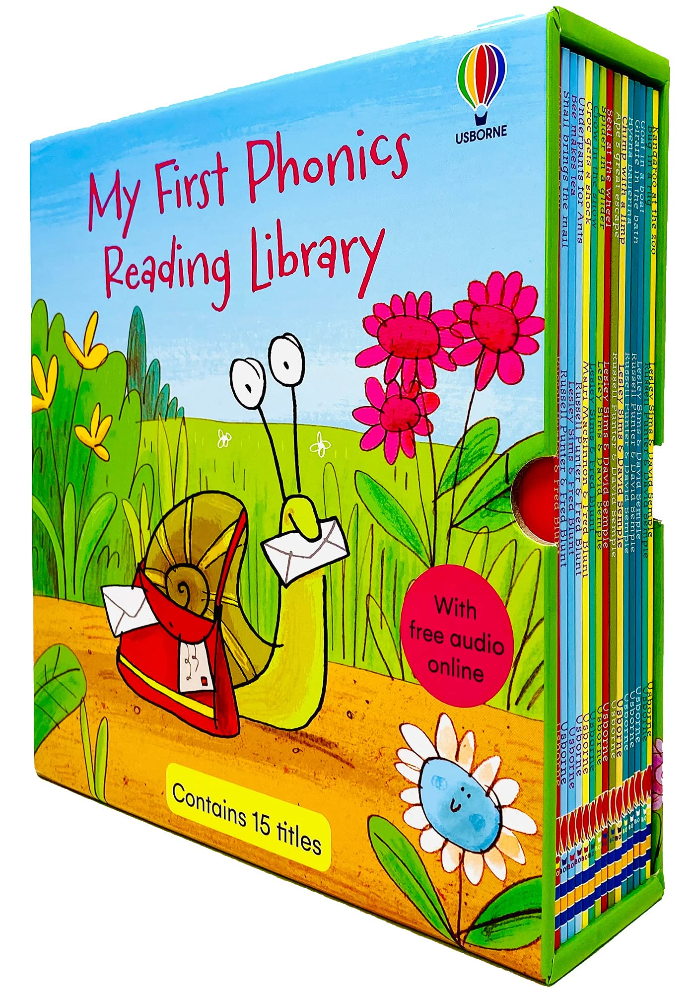 Usborne My First Phonics Reading Library 15 Books Collection Box Set (Phonics Readers)