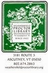 Weathersfield Proctor Library