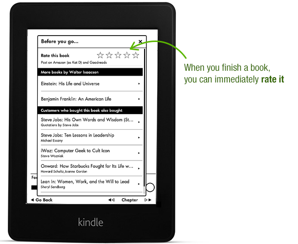 Goodreads Now Available on the New Kindle Paperwhite
