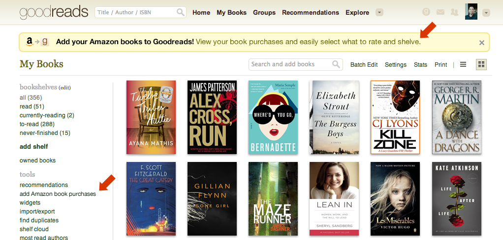 Easily Add Books You Purchased From Amazon To Your Goodreads Shelves Available For Members In The US Canada And Australia